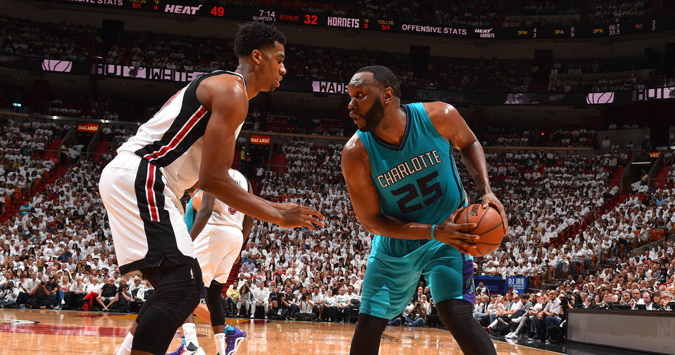 Miami Heat V Charlotte Hornets - Game One
